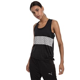 Camiseta sin mangas con logo atractivo, Puma Black Heather, pequeño