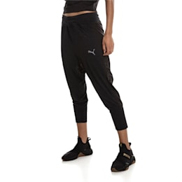 Knockout Woven Women's 3/4 Pants, Puma Black Heather, small-IND