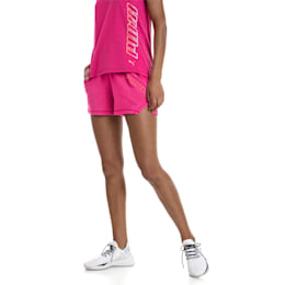 "Yogini Women's 3"" Shorts, Fuchsia Purple Heather, small"