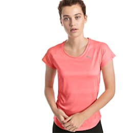 T-shirt de manga curta de corrida Thermo-R+ para mulher, Bright Peach Heather, small