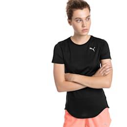 Epic Heather Short Sleeve Women's Running Tee, Puma Black Heather, small-SEA