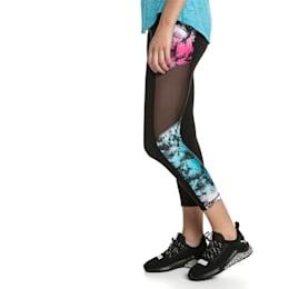 Ignite Women's 3/4 Graphic Leggings, Puma Black-Multi-Q2 Print, small