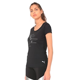 Ignite Short Sleeve Women's Running Tee, Puma Black-Q1, small-IND