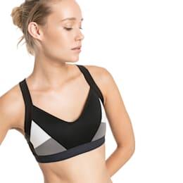 Women's Training Bra, Puma Black-Puma White, small