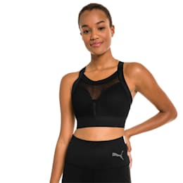 PUMA x SELENA GOMEZ Women's Training Bra, Puma Black, small