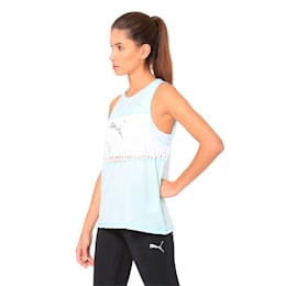 Cosmic Trailblazer Women's Tank Top, Fair Aqua-Puma White, small-IND