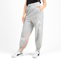 PUMA x SELENA GOMEZ Damen Sweatpants, Light Gray Heather, small