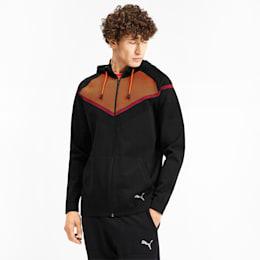 Reactive evoKNIT Men's Jacket, Puma Black-Rhubarb, small