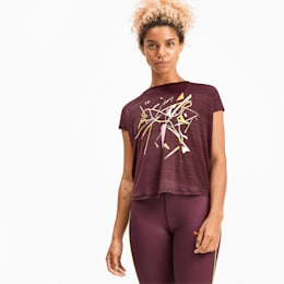 SHIFT Versatile Damen Training T-Shirt, Vineyard Wine, small