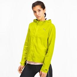 SHIFT Packable Hooded Full Zip Women's Training Windbreaker, Yellow Alert, small