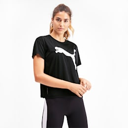 Last Lap Women's Running Tee, Puma Black-Cat, small-SEA