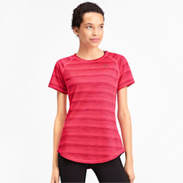 Get Fast Thermo-R+ Women's Tee, Pink Alert Heather, small-IND