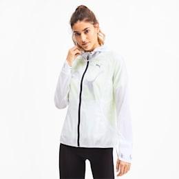 Get Fast Hooded Full Zip Women's Running Jacket, Puma White, small