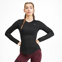 Ignite Women's Long Sleeve Tee, Puma Black Heather, small