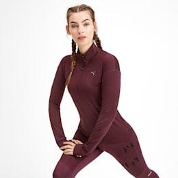 Ignite Long Sleeve Women's Running Pullover, Vineyard Wine, small