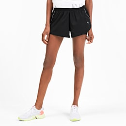 Last Lap Woven 2 in 1 Women's Running Shorts, Puma Black-Puma Black, small-SEA