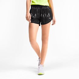 "3"" Graphic Women's Shorts, Puma Black-Reflective Print, small"