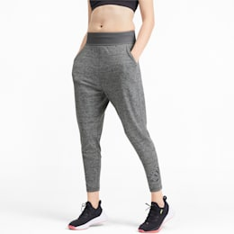 Studio 7/8 Knitted Women's Sweatpants, Medium Gray Heather, small-IND