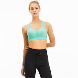 Get Fast Women's Training Bra, Green Glimmer, small