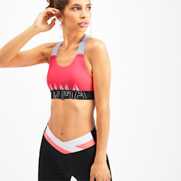 Soutien-gorge de sport Feel It pour femme, Pink Alert-Puma Black-White, small