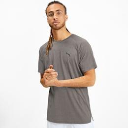 Meska koszulka Reactive treningowa z krótkim rekawem, Medium Gray Heather, small