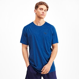 Reactive Short Sleeve Men's Training Tee, Galaxy Blue Heather, small-IND