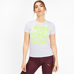 Be Bold Graphic Women's Training Tee, Puma White, small-IND