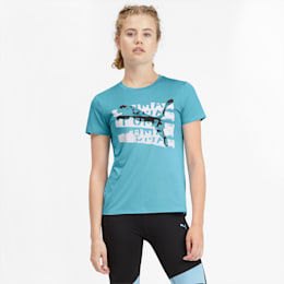 Be Bold Women's Graphic Tee, Milky Blue, small