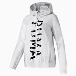 Be Bold Women's Graphic Woven Jacket, Puma White, small