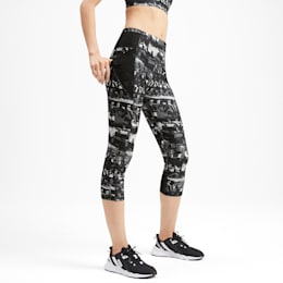 Be Bold All-Over Print 3/4 Women's Training Tights, Puma Black, small