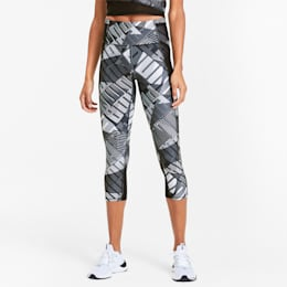 Be Bold All-Over Print 3/4 Women's Training Tights, PumaBkPumaWh-Be Bold Q1 Prt, small