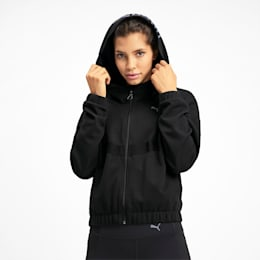 HIT Feel It Knitted Women's Training Sweat Jacket, Puma Black, small-IND