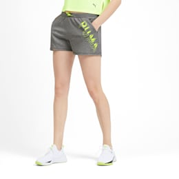 Shorts HIT Feel It para mujer, Medium Gray Heather, pequeño