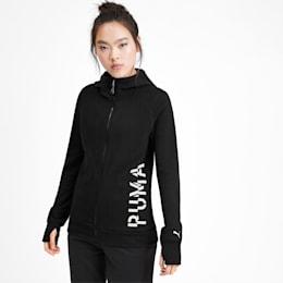 Logo Women's Sweat Jacket, Puma Black-Q3, small