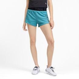Shorts con logo para mujer, Milky Blue Heather, pequeño