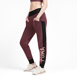 Logo Women's Sweatpants, Vineyard Wine Heather, small