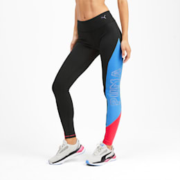 Be Bold Women's Training Leggings, Puma Black-Blue Glimmer, small-SEA