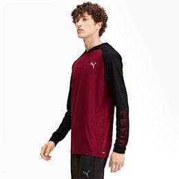 Camiseta Collective con capucha y mangas largas para hombre, Rhubarb-Puma Black Heather, pequeño