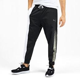 Pantalones de training tejidos de hombre Collective, Puma Black-Puma White, small