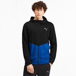 Reactive FZ Full Zip Men's Training Jacket, Puma Black-Galaxy Blue, small