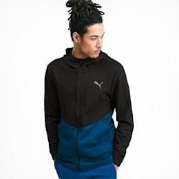 Reactive Men's Full Zip Jacket, Puma Black-Gibraltar Sea, small