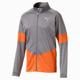 PUMA Blaster Men's Jacket, CASTLEROCK-Jaffa Orange, small
