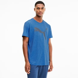 Heather Cat Men's Training Tee, Palace Blue Heather, small
