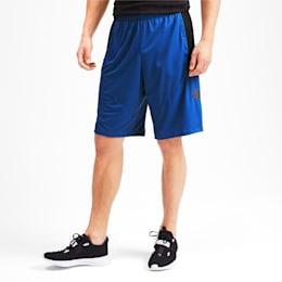 Cat Men's Training Shorts, Galaxy Blue-Puma Black, small-IND