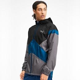 Reactive Reversible Hooded Men's Jacket, Black-Gibraltar-CASTLEROCK, small