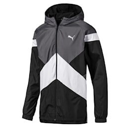 Reactive Men's Reversible Jacket, CASTLEROCK-Black-Jaffa, small