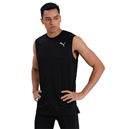 IGNITE Men's Running Tank Top, Puma Black, small-IND