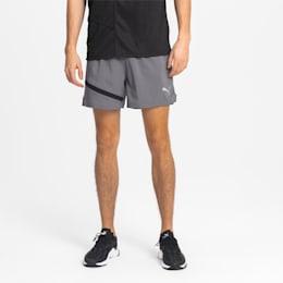 "IGNITE Woven 5"" Men's Running Shorts, CASTLEROCK-Puma Black, small"