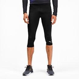 IGNITE 3/4 Men's Running Tights, Puma Black, small-SEA