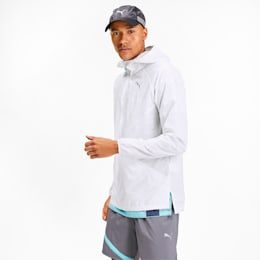 Lightweight Woven Hooded Men's Running Jacket, Puma White, small